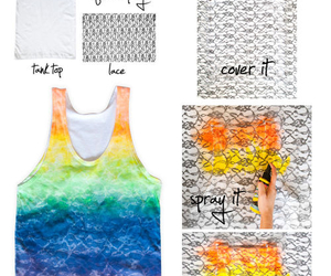 diy, rainbow, and lace image