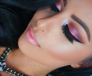 cat eye, glam, and jewelry image