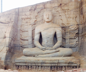 buddhism, rock, and sculpture image
