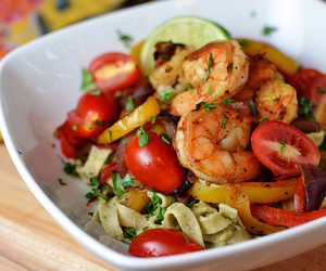 food, healthy, and shrimp image