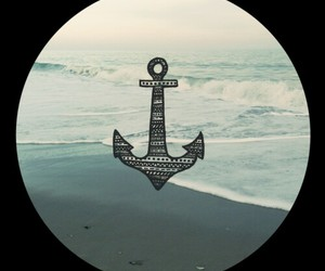 anchor, black, and sea image