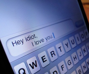 love, idiot, and text image