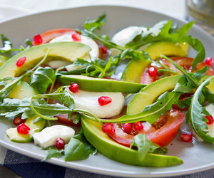 green, healthy, and salad image