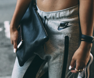 nike, jogger pants, and work out image