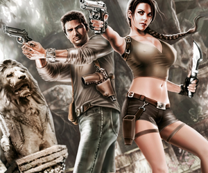 lara croft, tomb raider, and nathan drake image