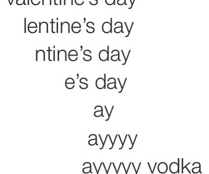vodka, Valentine's Day, and valentine image