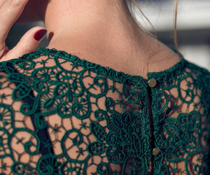 fashion, green, and lace image