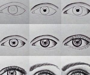 drawing, eyes, and eye image