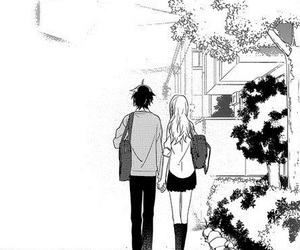 anime girl, holding hands, and kawaii image