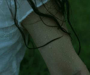hair, rain, and pale image