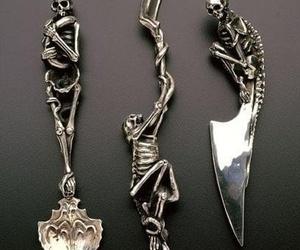 skull, knife, and skeleton image