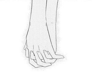 anime girl, hands, and manga image