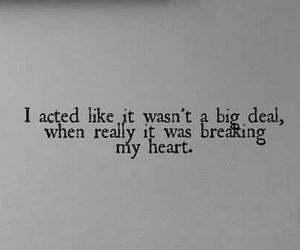 sad, quotes, and heart image