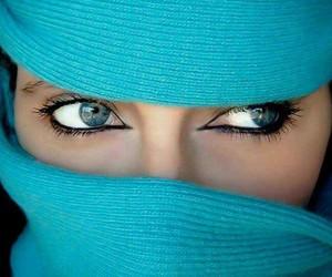 arab, beautiful, and blue eyes image