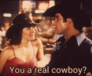 couple, sissy, and urban cowboy image