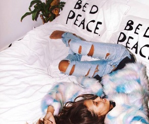 girl, style, and bed image