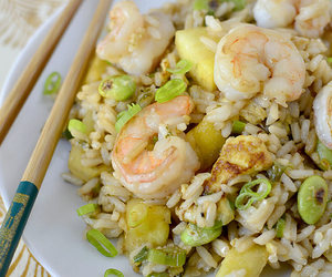 rice, seafood, and shrimp image