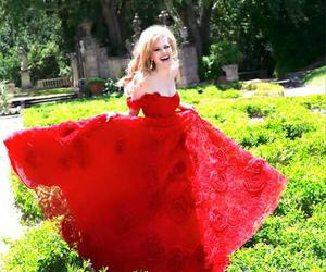 red dress, sexy, and sherri hill dress image