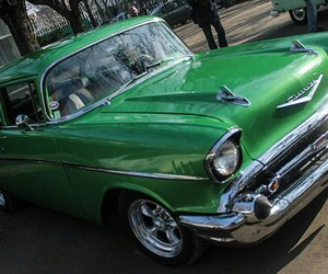 1957, chevrolet, and bel air image