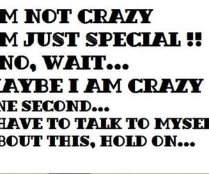 crazy, quote, and lol image