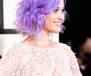 katy perry, grammys, and purple image