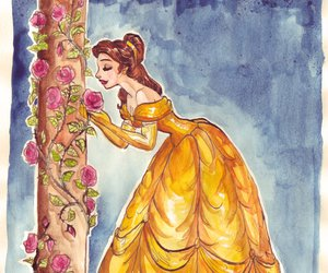 disney, belle, and beauty and the beast image