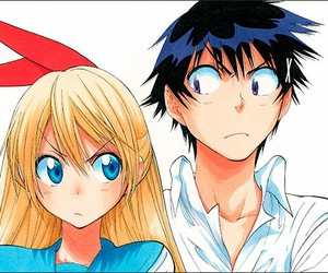 anime girl, manga, and chitoge kirisaki image