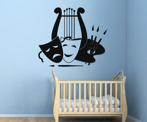 painting, kids room decor, and wall decals image