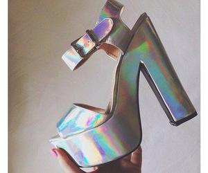 shoes, fashion, and holographic image