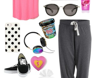 outfit, pink, and valentines day image