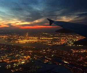 airplane, city, and new york image