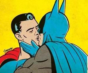 batman, superman, and gay image