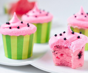 colors, cup cakes, and pink image