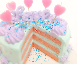 cake, candy, and cream image