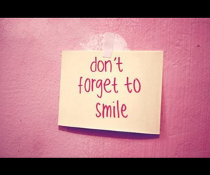 smile, pink, and quote image