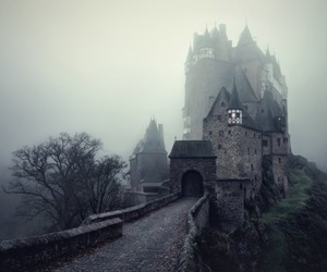 castle, dark, and fog image
