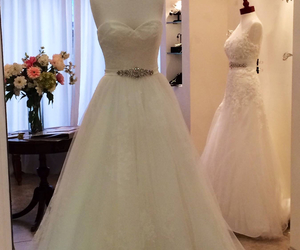 bride, strapless, and wedding image