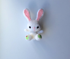 crochet, crochet toy, and easter bunny image