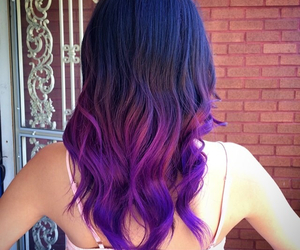 beauty, brunette, and dip dye image