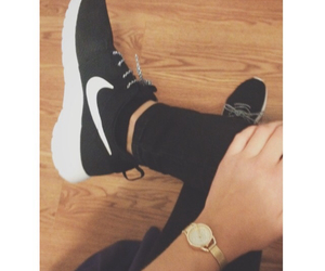 black and white, fashion, and nike image