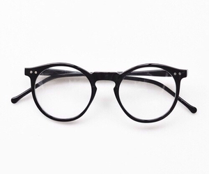 glasses, style, and black image