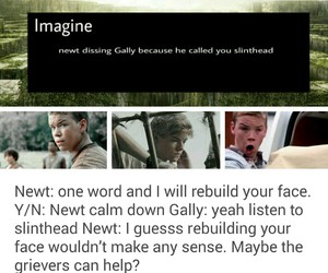 gally, the maze runner imagines, and newt image