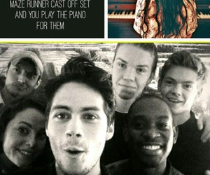 the maze runner, imagines, and the maze runner cast image