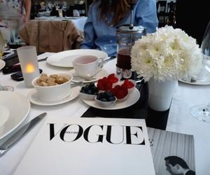 vogue, food, and flowers image