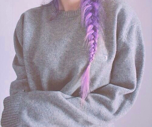 girl, hair, and sweater image