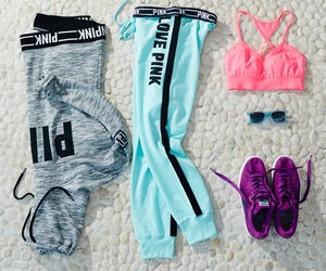 pink, fitness, and sport image