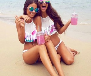 beach, bff, and body image