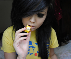 girl, f4lconpunch, and emo image