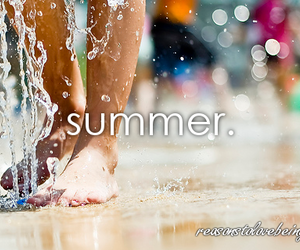 summer, love, and water image