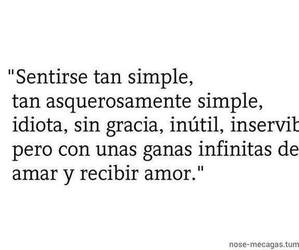 love, frases, and simple image